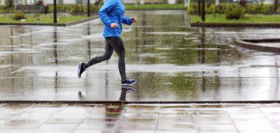 Runner Woman Running Park Rain Jogging Training M Marathon 71338767